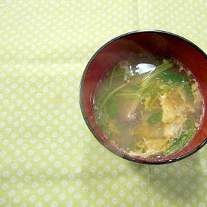 干し椎茸かき玉汁