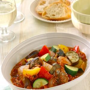 【さば缶で簡単に!】ズッキーニのトマト煮