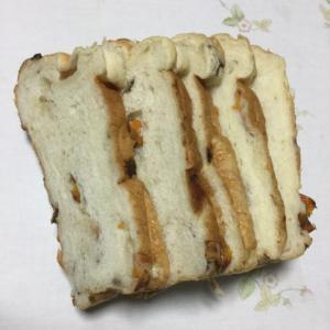自家製ドライフルーツで食パン