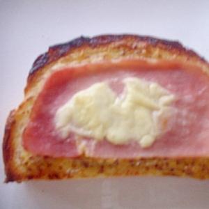 粒マスタード&マヨ&ハム&クリームチーズトースト☆