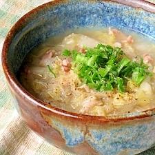 これ一皿で芯から暖まる 白菜と豚肉のスープ