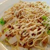 ❤白菜と水煮大豆のウスターマヨ焼きそば❤