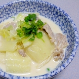 簡単♪おつまみ♪白菜と豚肉の和風ミルク煮
