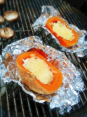 バターナッツカボチャのチーズ焼き