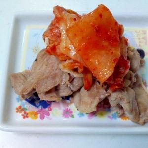 豚肉白菜キムチのせ