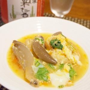 【奈良食材】平茸とお麩、大和菜の卵とじ