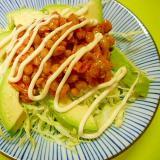 キャベツキムチアボカド納豆