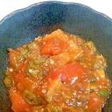 夏野菜と厚揚げのピリ辛炒め
