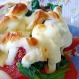 ❤ トマト&ホウレン草&コンビーフのチーズ焼き ❤