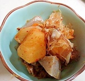 フライパンで作る!ピリ辛大根とコンニャクの煮物
