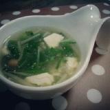 具沢山の中華風スープ