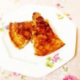 玄米パフ入り♪米粉のバナナパンケーキ