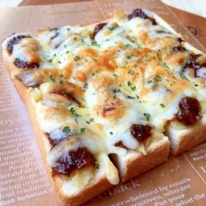 簡単♪マッシュポテトとデミチーズトースト