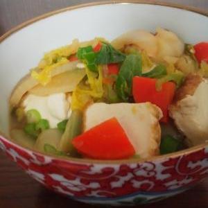 厚揚げと野菜の蒸し煮