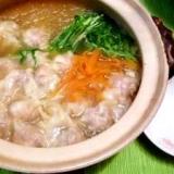 寒い日のエビワンタン鍋