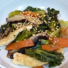 小松菜と人参の炒め煮