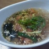 さっぱりお酢の夏野菜冷製スープ