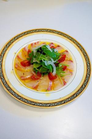 レストランの味が食卓に!鯛のカルパッチョ