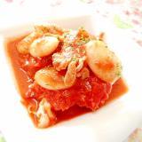 シャンタンde❤茹で豚バラ肉と白花豆のトマト煮❤