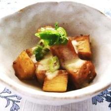 【小さいおかず】厚揚げと長芋の甘辛チーズ