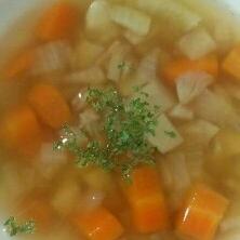 角切り野菜のコンソメスープ