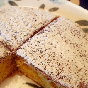 フライパンでふんわり軽~い☆チーズパンケーキ