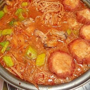 からだポカポカ☆牡蠣と塩麹ひき肉のキムチ鍋