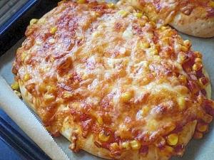 「ミートソース&コーンピザ」   ♪♪
