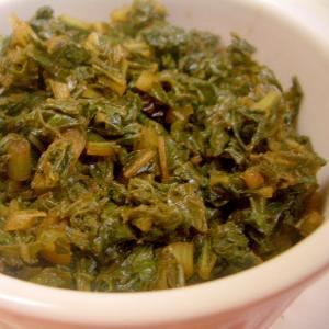 大根葉の梅酢煮