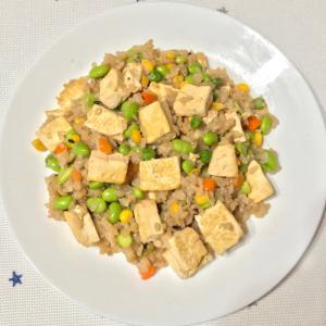 簡単! 枝豆と豆腐の味噌焼き飯