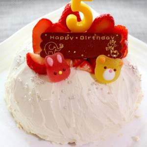 お誕生日に♪チーズクリームのバースデードームケーキ