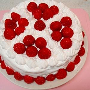 カスタードと苺のケーキ