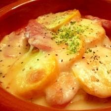 グリルで簡単☆ズッキーニとソーセージのチーズ焼き