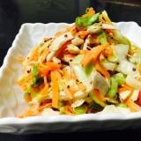 春キャベツと鶏胸肉のマスタード風味さっぱりサラダ☆