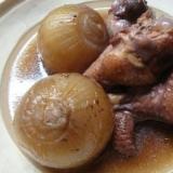鶏肉と小玉葱の赤ワイン煮