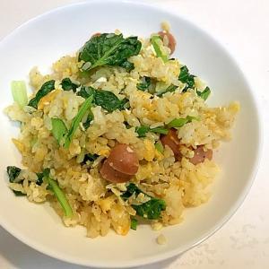 栄養たっぷり☆ターサイとウインナーの炒飯