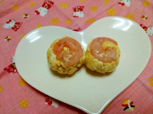 お弁当に☆海老卵ボール