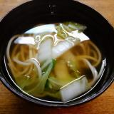 素麺と白菜の澄まし汁