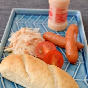 プチパン&大根サラダウインナー添えワンプレート朝食