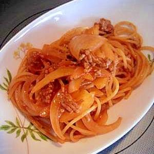 オニオンケチャップミートスパゲテー