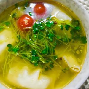 !時短ランチ!野菜と餃子の中華スープ!
