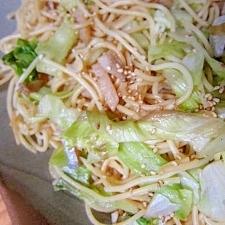 塩麹小鯛とレタス胡麻パスタ