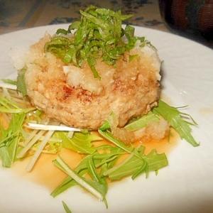 ポン酢で食べる☆塩豆腐入り和風ハンバーグ★