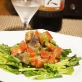 【高知食材】鰹とトマトの葉にんにくジェノベーゼ