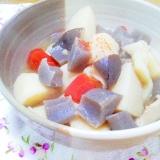 里芋・蒟蒻・生椎茸の味噌煮