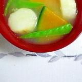 南瓜と麩のお味噌汁