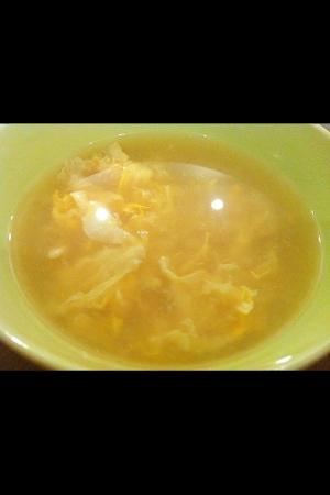 三分で完成!カニ玉スープ