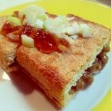 トースターで♡栃尾の油揚げ(納豆チーズ)