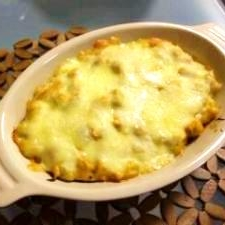大豆とツナのケチャマヨチーズ焼き