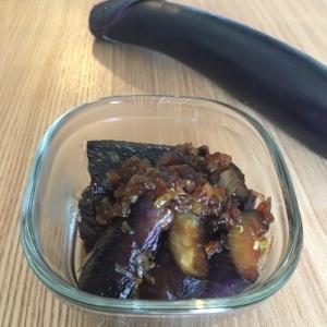 オイル控えめ、黒酢でこっくり、なすの甘酢煮